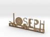 Joseph Nametag 3d printed