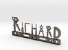 Richard Nametag 3d printed