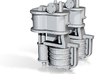 N Scale Westinghouse Air Pump 2PK 3d printed 2PK Westinghouse Air Pumps