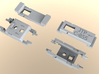 N Scale Alco C-855B Locomotive Shell 3d printed Chassis Extenders (Separate Kit)