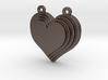 Terracing Heart Pendant 3d printed