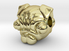 Reversible pug head pendant 3d printed
