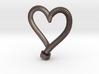 Heart-screw pendant 3d printed