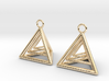 Pyramid triangle earrings type 9 3d printed