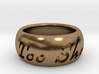 This Too Shall Pass ring size 4.5 3d printed