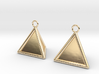 Pyramid triangle earrings type 16 3d printed