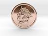 Silver Trenni Coin 3d printed