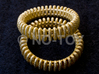 "VORTEX TWO - ""17,5mm"" - ""54,5mm"" - ""N"" - ""7"" 3d printed GOLD PLATED MATTE (ORIGINALL PRODUCT IMAGE)"