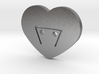 Moon-glyph-heart-earth 3d printed
