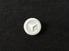 Yasogami High Button 3d printed White Strong & Flexible Polished (Front)