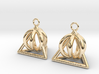 Pyramid triangle earrings serie 3 type 2 3d printed