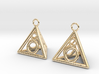 Pyramid triangle earrings serie 3 type 3 3d printed