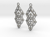 Quilted Sq Earrings (Open Gates) 3d printed