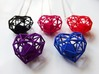 Heart Wireframe Pendant 3d printed Wireframe hearts