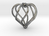 Twisted Heart Pendant3 3d printed