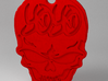 You're Only Young Once Pendant 3d printed Render in Red Coral