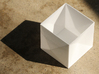 Tessellating Boxes 3d printed White strong and flexible box.