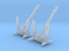 1/200 US Navy Anchor Set 2 Units V2 3d printed