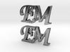 EM Cufflinks 3d printed