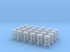 50's soda fountain bar stool 02. HO Scale (1:87) 3d printed