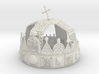 "Hungarian Holy Crown - half scale 3d printed 3dprinted model of ""Hungarian Holly Crown - half scale"". Material: Frosted Ultra Detail.Photo about 3dprint ""Hungarian Holly  Corwn - half scale"". Material ""White Strong & Flexible"" - good deal but not so detailed as Frosted Ultra Detail."