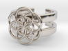 SEED OF LIFE DOUBLE BAND RING 7 3d printed