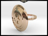 Captain America Ring - 18.89mm - US Size 9 3d printed