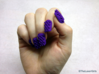Cube Nails (Size 1)  3d printed Purple Strong and Flexible Polished