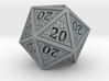 Hedron D20 (All 20's version) Solid 3d printed