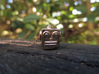 Reversible retro robot head pendant 3d printed Photo of side one
