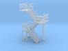 N Scale Concrete Plant Stairs 35.1mm 3d printed