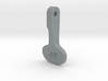 Supermarine Spitfire Flap Lever Keychain 3d printed