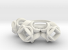 Trio Rose Ring size 1 3d printed