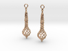 Bound Coil Earrings 3d printed