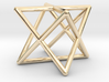 Merkaba Round Wires 1.5cm Cube 3d printed