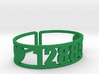 Echo Lake Zip Code Cuff 3d printed