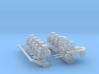 1:400 Scale Aircraft Carrier Forlift Set #1 (Late) 3d printed