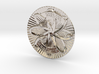Sun of Vergina Belt Buckle, Detailed Center 3d printed Rhodium Plated (rear)