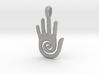 Hopi Spiral Hand Creativity Symbol Jewelry Pendant 3d printed