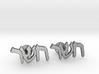"Hebrew Monogram Cufflinks - ""Ches Shin Reish"" 3d printed"