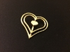 Three Heart Pendant 3d printed 14k Gold Plated Three Heart Pendant