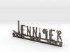 Jennifer Nametag 3d printed