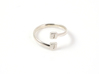 Initial Wraparound Ring -Custom - Oval Band 3d printed Custom Initial polished silver