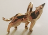 Wolf low poly style pendant 3d printed