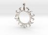 Tribal Sun Design Jewelry Symbol Pendant 3d printed