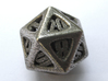 Thoroughly Modern d20 3d printed In Stainless Steel