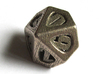 Thoroughly Modern d10 3d printed