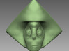 Steven Universe Peridot charm 3d printed Front view 3D Sculpt render in software