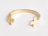 Double Plus Cuff 3d printed Gold Plated Brass