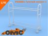 OMCP430001 Tyre rack version 1 (1/43) 3d printed Unpainted example